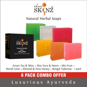 Green Tea & Mint + Aloe Vera & Neem + Mix Fruit + Neroli Lime + Almond + Bengal Tuberose
