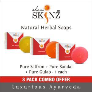 Pure Saffron + Pure Sandal + Pure Gulab
