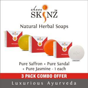 Pure Saffron + Pure Sandal + Pure Jasmine