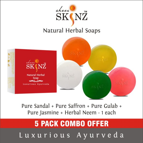 Pure Sandal + Pure Saffron + Pure Gulab + Pure Jasmine+ Herbal Neem